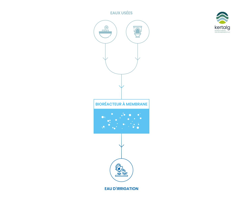 Schéma du Traitement de l'eau - Kertalg
